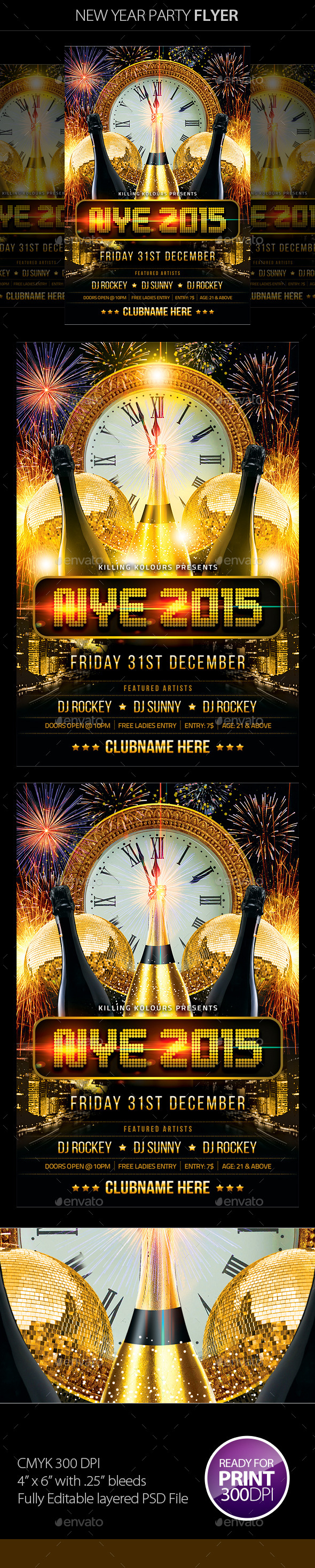 GraphicRiver New Year Party Flyer 9673780