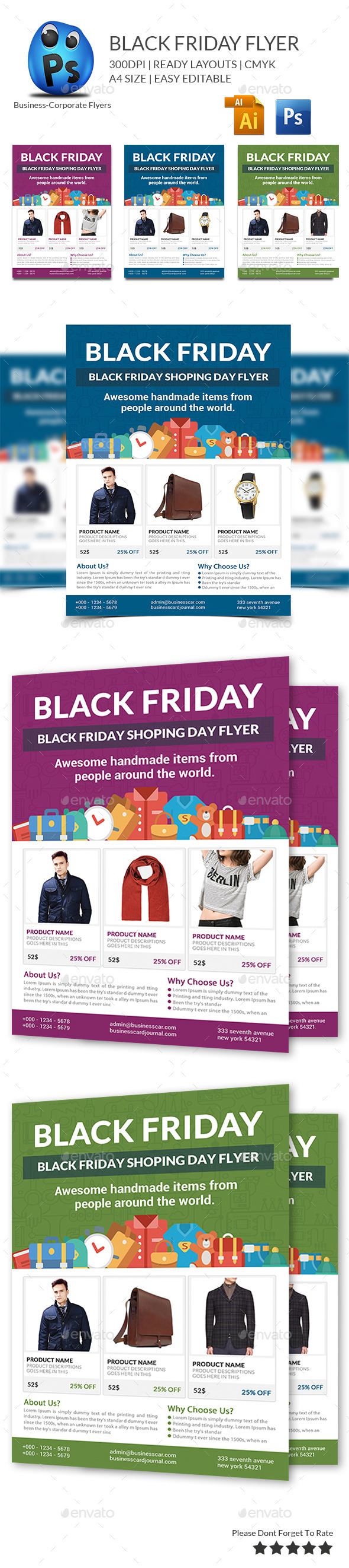GraphicRiver Black Friday Sale Flyer 9673920
