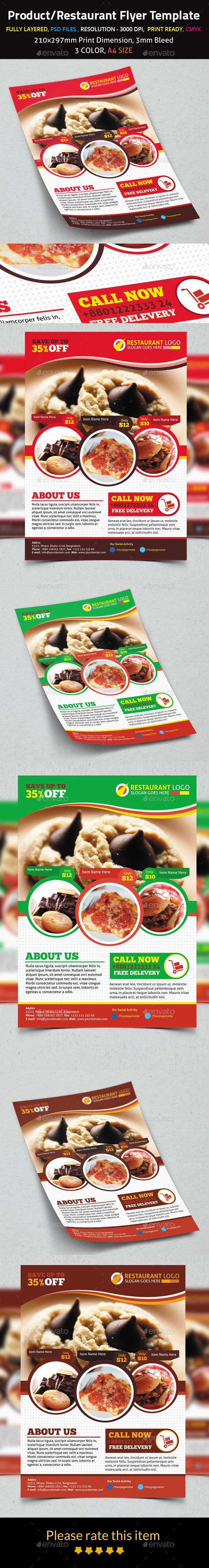 Product/Restaurant Flyer Template