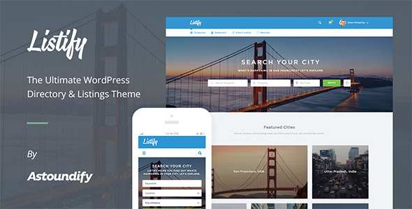 WordPress Directory Theme - Listify