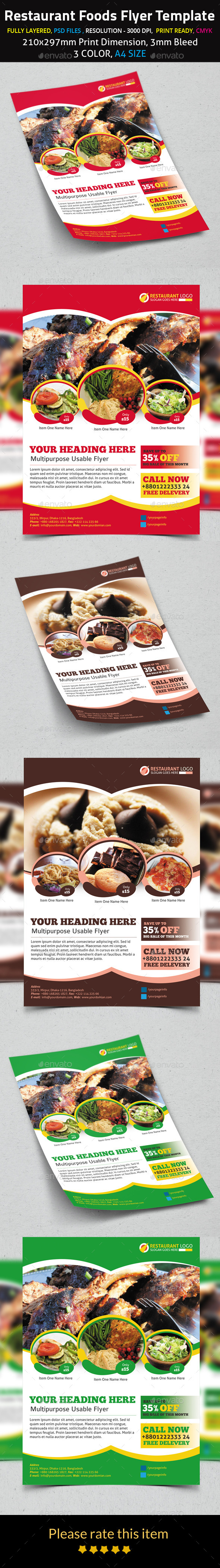 Restaurant Foods Flyer Template
