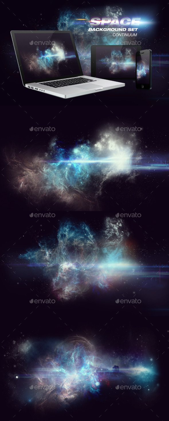 GraphicRiver Continuum Space Background Set 9674070