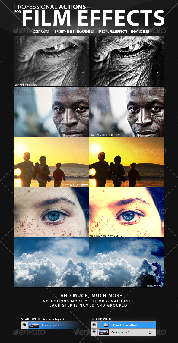 GraphicRiver PRO Actions 30 Film Effect Styles 114480