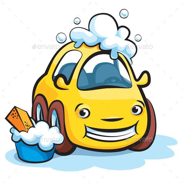 GraphicRiver Car Wash Cartoon Vector 9674120