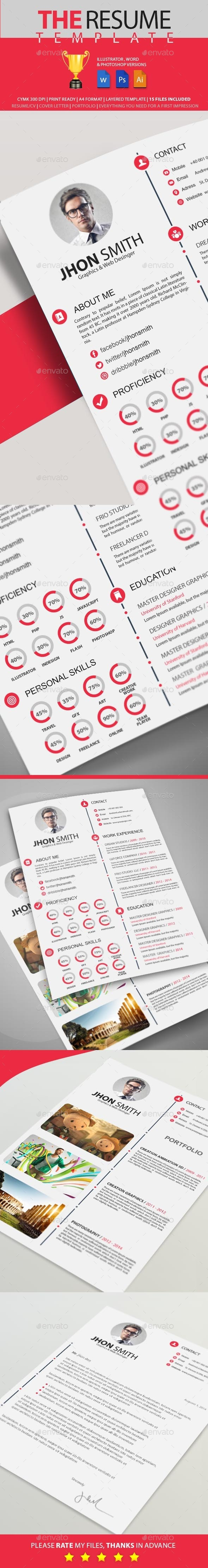 GraphicRiver Resume 9674404