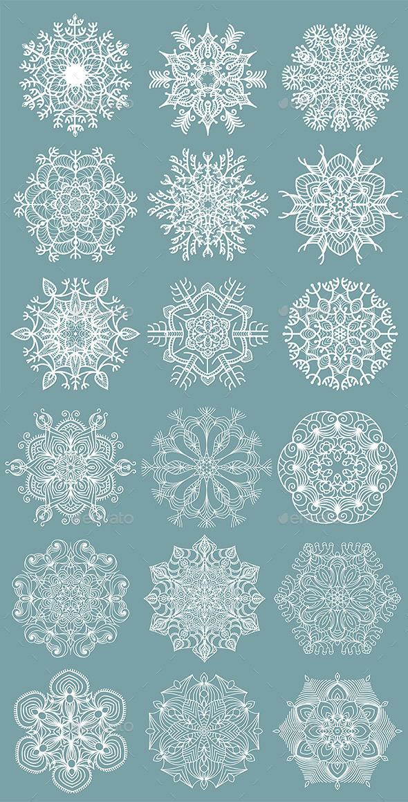 GraphicRiver Snowflakes 9674760