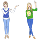 Two Pointing Girls - GraphicRiver Item for Sale