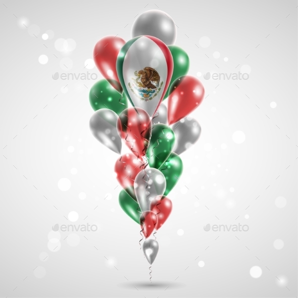 GraphicRiver Flag of Mexico on Balloon 9674980