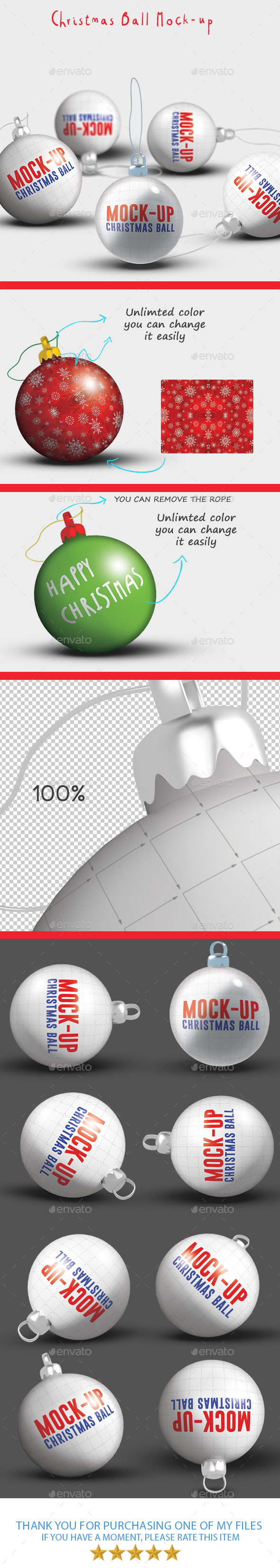 GraphicRiver Christmas Ball Mock-up 9675027