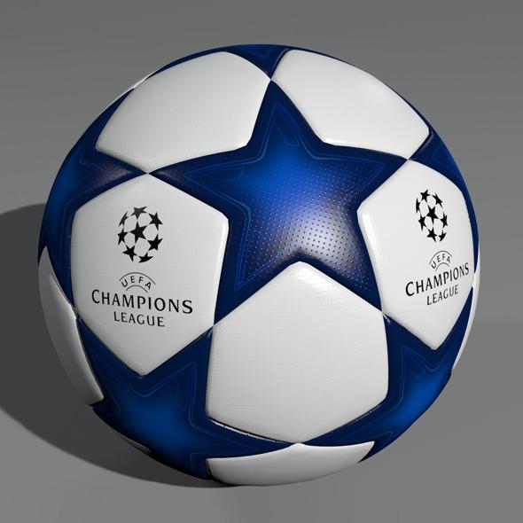 UEFA Champions League Ball 3D Model - 3DOcean Item for Sale