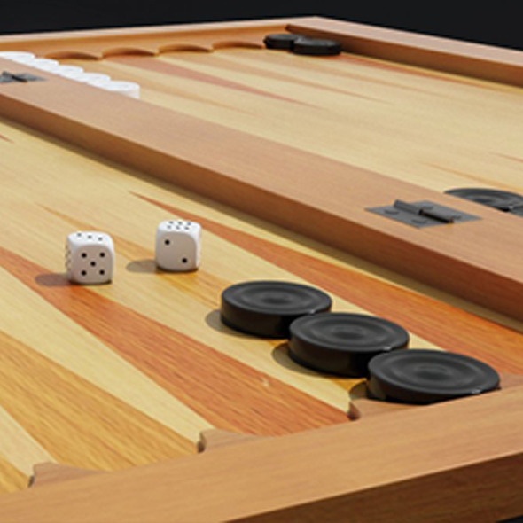 Backgammon 3D Model