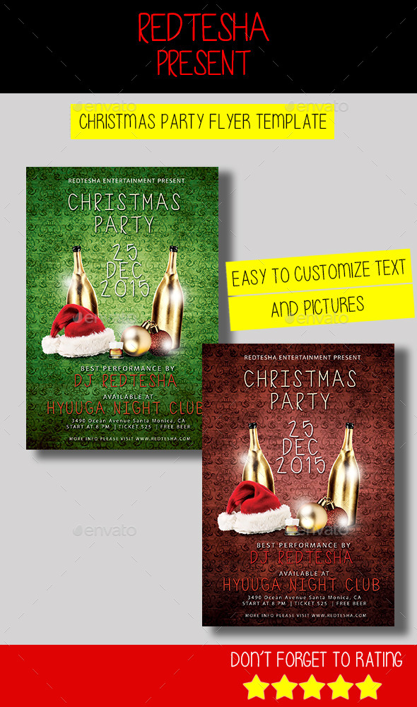 GraphicRiver Christmas Party Flyer Template 9675101