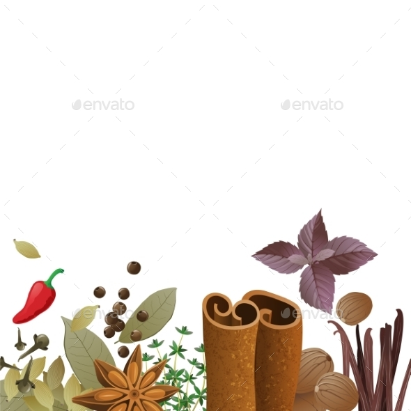 GraphicRiver Background with Spices 9675110