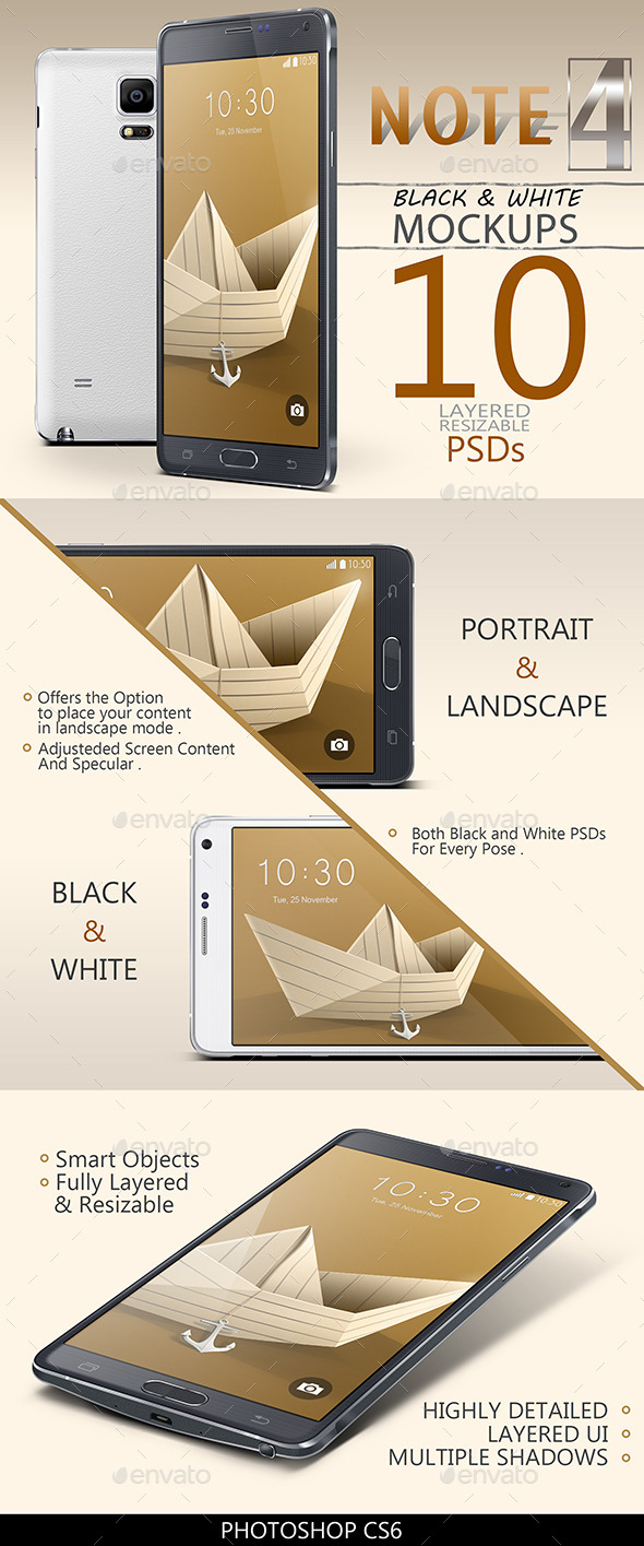 GraphicRiver Note 4 Mock-Ups 9675299