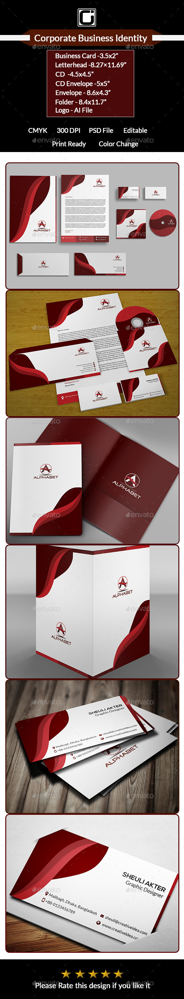 GraphicRiver Corporate Business Identity 9675338