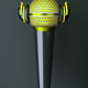a music concept with mic and headphones, creative 3d idea - PhotoDune Item for Sale