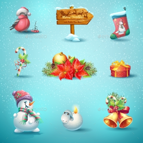 GraphicRiver Christmas Icons 9675800