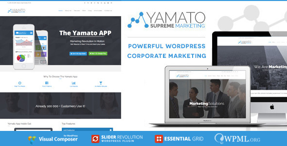 ThemeForest YAMATO Corporate Marketing Wordpress Theme 9675802