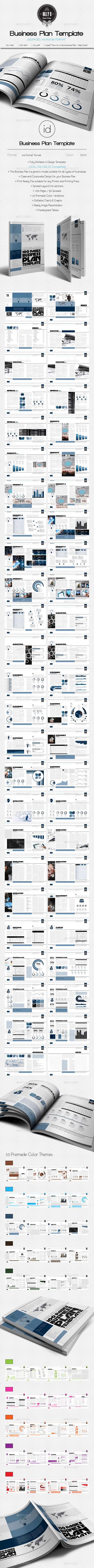 GraphicRiver 100 Pages Business Plan Template A4 v.1 9675811