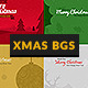 Christmas Minimal Backgrounds With Wish Text - GraphicRiver Item for Sale