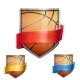Set of Bright Basketball Shields - GraphicRiver Item for Sale