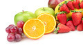 fresh fruits isolated on a white - PhotoDune Item for Sale