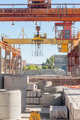Operator of crane works at finished good warehouse - PhotoDune Item for Sale