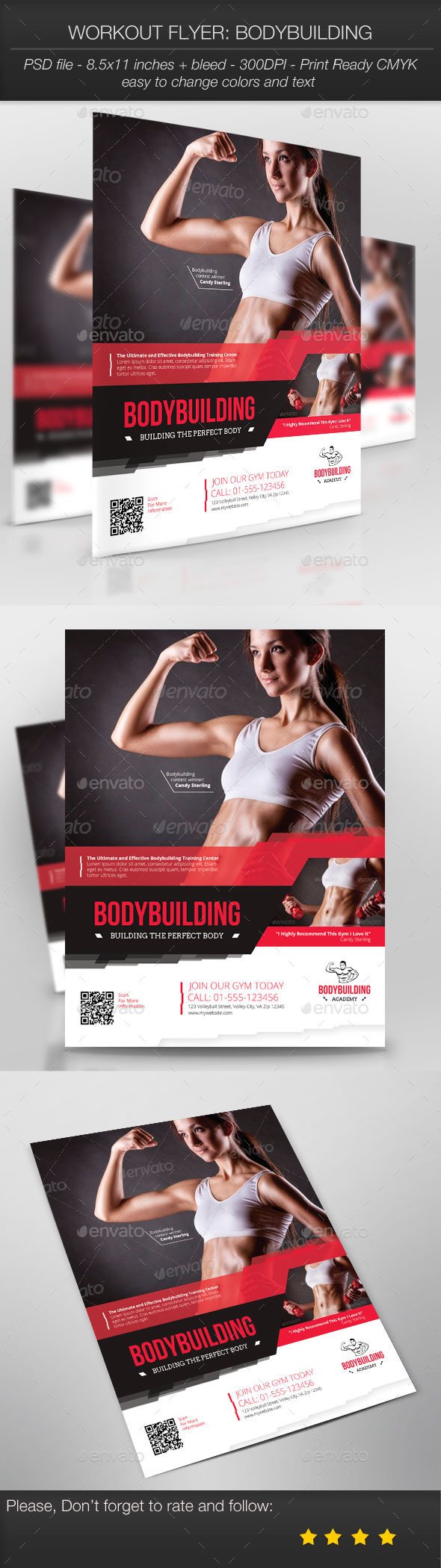GraphicRiver Workout Flyer Bodybuilding 9676862