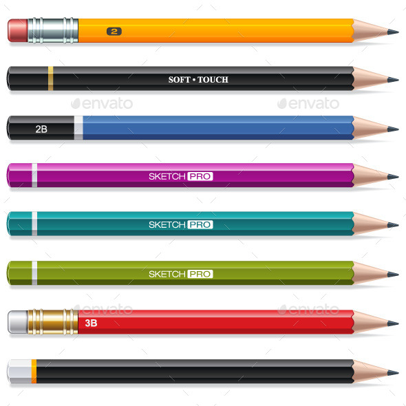 GraphicRiver Colorful Pencils 9677170