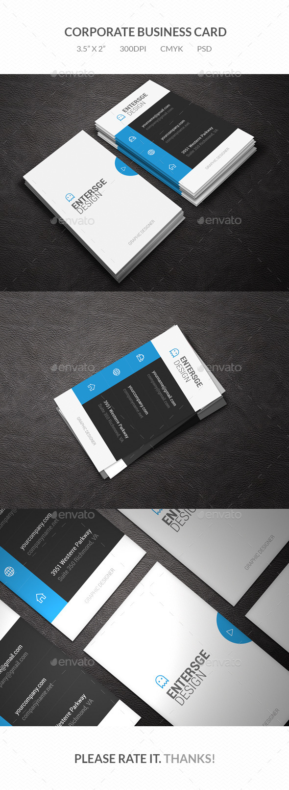 GraphicRiver Corporate Business Card 9677172