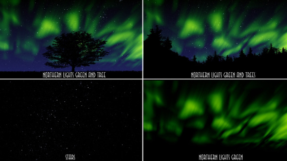 VideoHive Northern Lights Green 9677297