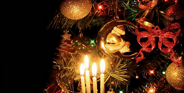 VideoHive Christmas Tree Ornaments and Candles 9677336