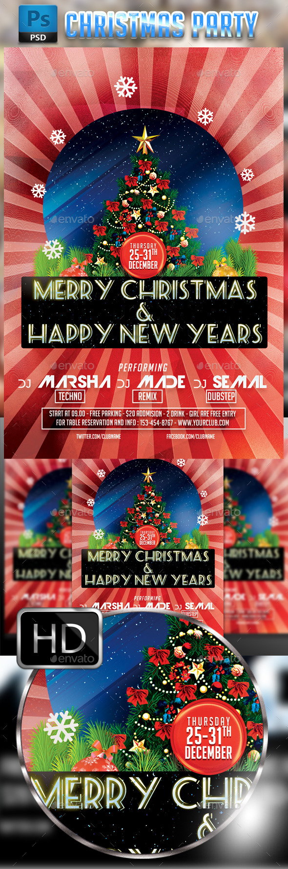GraphicRiver Christmas Party 9677458