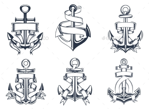 GraphicRiver Ship Anchor Emblems 9677464