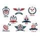 Darts Heraldic Sports Emblems and Symbols - GraphicRiver Item for Sale