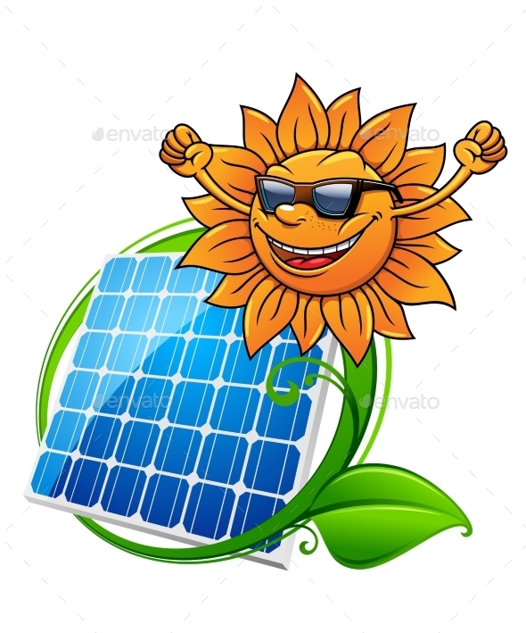 GraphicRiver Solar Energy Panel and Sun 9677486