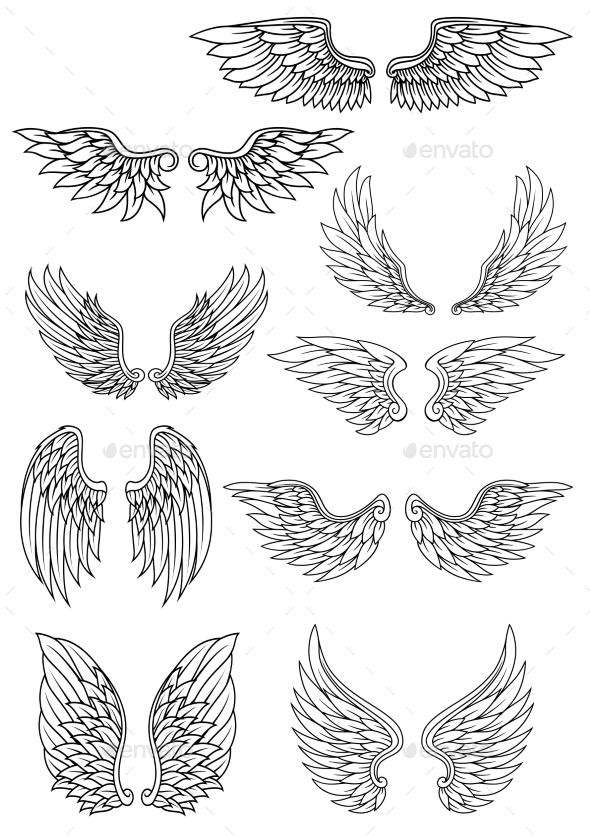 GraphicRiver Heraldic Wings 9677561