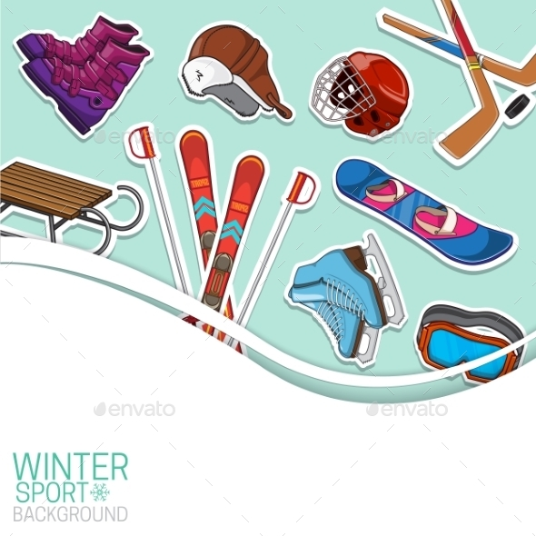 GraphicRiver Winter Sports Background 9677636