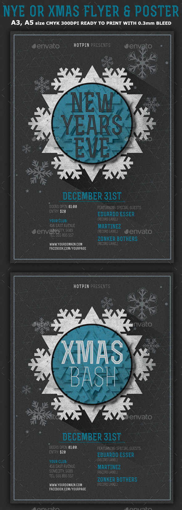 GraphicRiver Minimal New Year Christmas Flyer Template 9677715