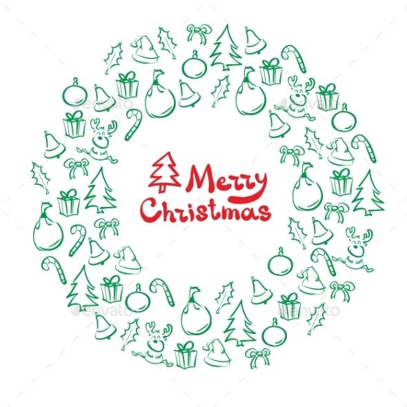 GraphicRiver Christmas Wreath 9677755