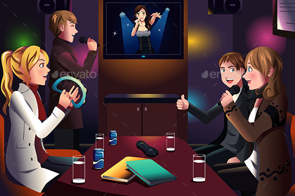 GraphicRiver People singing karaoke 9677767