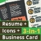 3-in-1 Deal: Resume Template + Icons + Business Card, Watch Dial Template - GraphicRiver Item for Sale