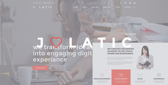 ThemeForest Julatic Multi-Purpose PSD Template 9640778
