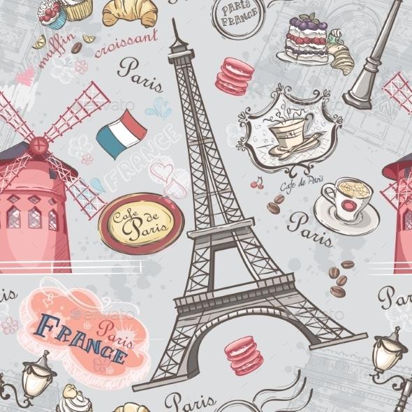 GraphicRiver Paris Pattern 9677922