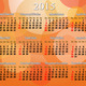 calendar for 2015 year in English and French on the orange - PhotoDune Item for Sale