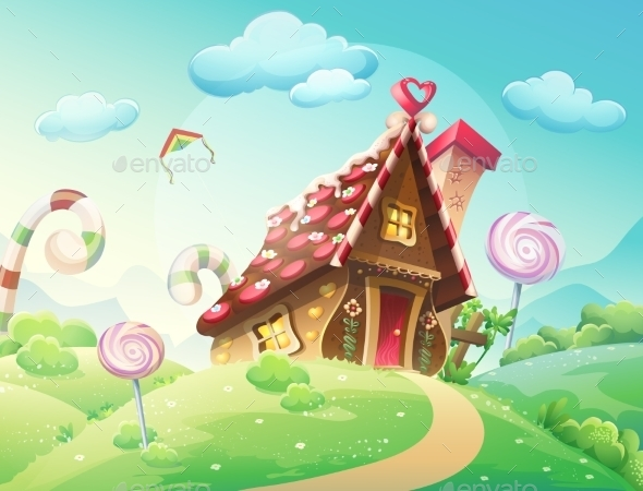GraphicRiver House made of Cookies and Candies 9677942