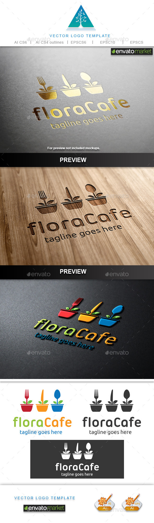 GraphicRiver Flora Cafe Logo 9678039