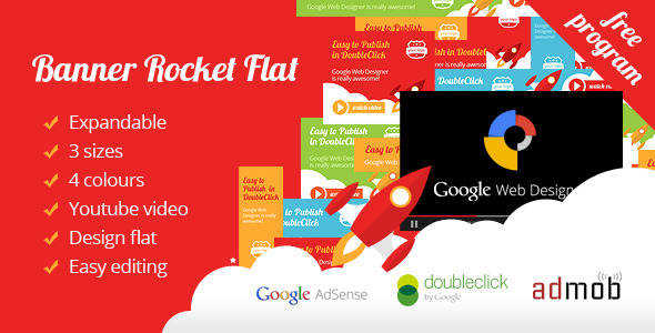 CodeCanyon Banner Ad Rocket Flat Expandable with Youtube 9633566