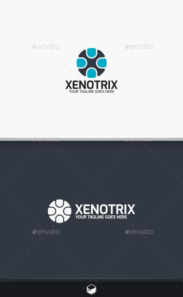 GraphicRiver Xenotrix Letter X Logo 9678294