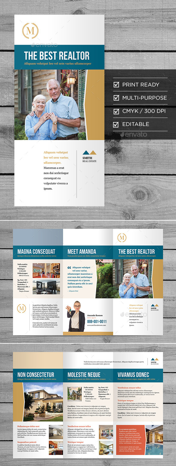 GraphicRiver Real Estate Tri-Fold Brochure 9678335